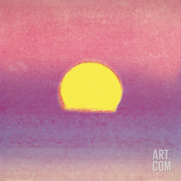 Sunset, c.1972 40/40 (lavender) Art Print by Andy Warhol at Art.com