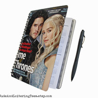 Game of Thrones 2016 2017 Planner - Jon Snow / Daenerys Targaryen - Daily Weekly Monthly Student Agenda College