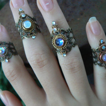 Steampunk midi rings nail ring claw ring knuckle ring CHOOSE ONE   finger tip ring  vampire goth victorian moon goddess pagan boho gypsy