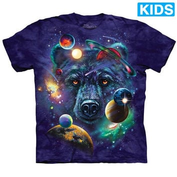 GRIZZLY COSMOS Kids Bear T-Shirt Planet Space The Mountain Child Boy Girl NEW!
