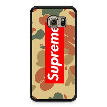 SUPREME CAMO HORIZONTAL Samsung Galaxy S6 Edge Case