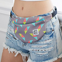 Avenue Dee Triangle Print Fanny Pack