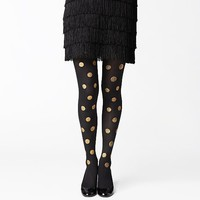 kate spade | gold dot tights