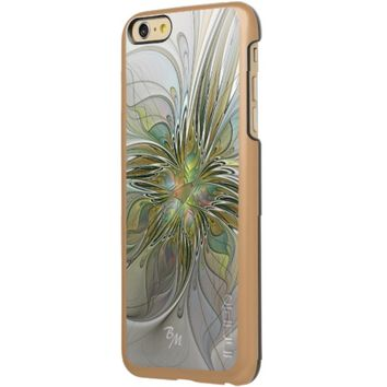 Floral Fantasy, Abstract Fractal Art Monogram Incipio Feather® Shine iPhone 6 Plus Case