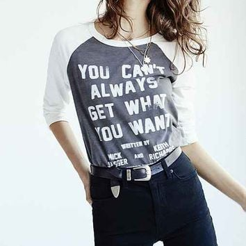 Lyric Culture Can't Always Get What You Want Tee