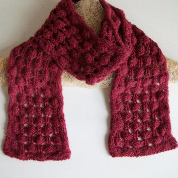 Easy Knit Scarf Pattern Berry Briar Knit Lace Scarf PDF Digital Download