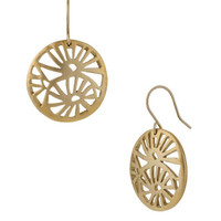 Kenneth Cole New York Round Gold-Tone Filigree Drop Earrings