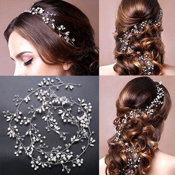 Brides handmade pearl hairband headdress wedding dress accessories hairband