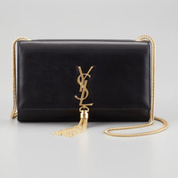 Cassandre Large Tassel Shoulder Bag, Black