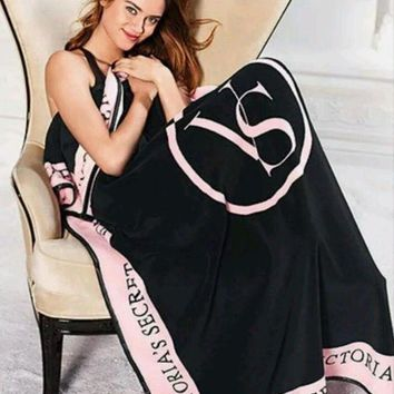 LMFGE2 Beauty Ticks Victoria Secret Pink Coral Fleece Blanket Bed Sofa Picnic Baby Flannel Small Blanket Swaddle Sleeper