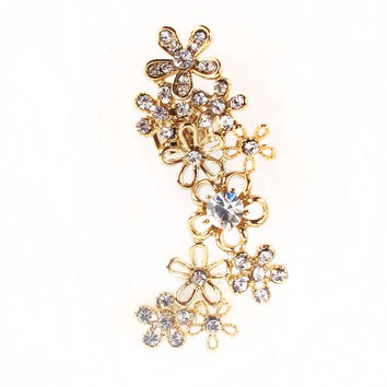 Flower Ear Cuff - 50% OFF