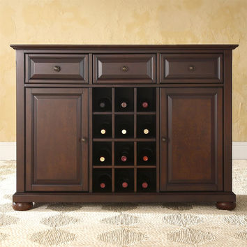 Dining Room Organizer Sideboard Server Buffet Cabinet in Vintage Mahogany