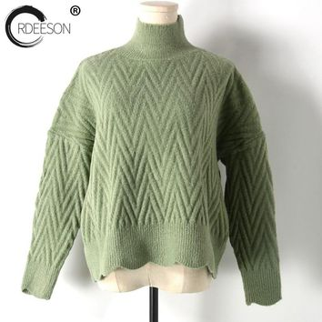 ORDEESON Ugly Christmas Sweater Turtleneck Thick Solid Women Sweaters and Pullovers Long Sleeve Female 2017 Knit Sweater Tops