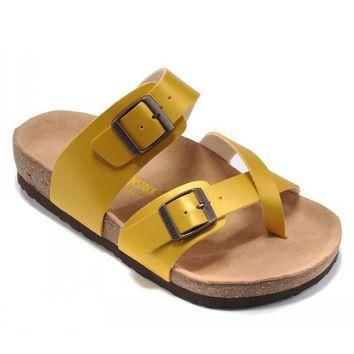 Birkenstock Woman Men Fashion Buckle Sandals Slipper Shoes-4