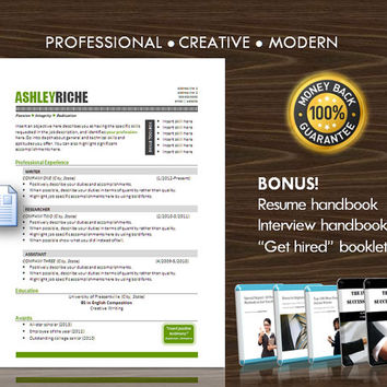 Resume Template / CV Template for MS Word / Professional and Modern Resume Design / Instant Digital Download / Mac or PC / Resume Success 15