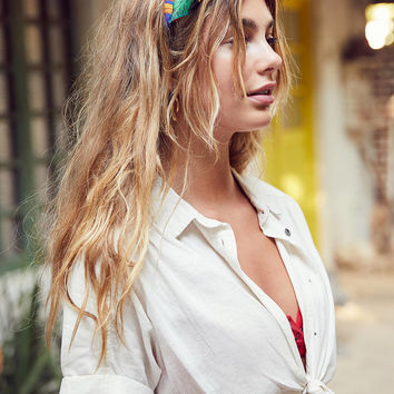 BDG Jena Tie-Front Blouse   Urban Outfitters