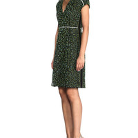 Fendi Stardust Floral-Lace Cap-Sleeve Dress