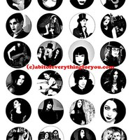 goth people culture collage sheet 1.5 inch circles abstract art clip art digital download graphics images craft printables pendants pins