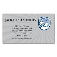 Business card Jack Russell Terrier Head Shield Car Pack Of Standard Business Cards