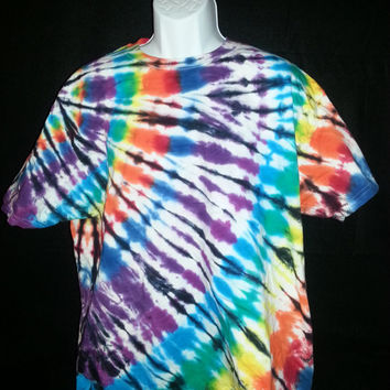 Hand Dyed Tie Dye Multi Color Shirt (Stain Glass) | Hanes Beefy-T 6.1oz. Shirt Youth / Adult (SHORT or LONG SLEEVE)