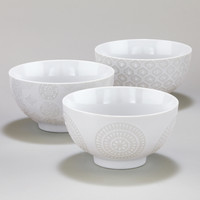 White Wax Resist Bowls, Set of 6 - World Market