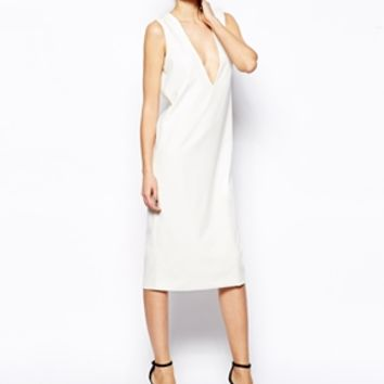 Solace London Plunge Neck Shift Dress