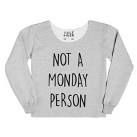 Not A Monday Person-Unisex Heather Grey T-Shirt
