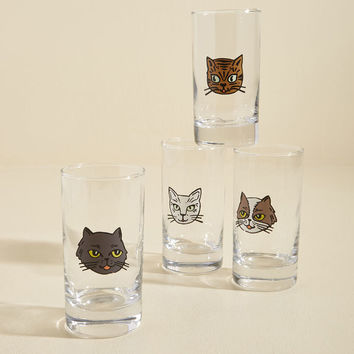Purrs, Mine, and Ours Glass Set