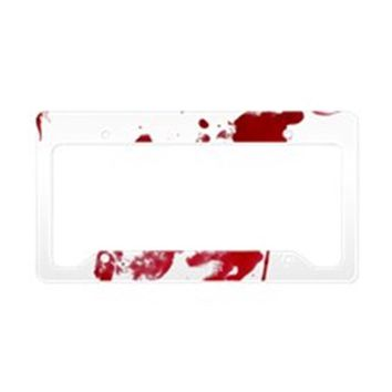 BLOOD SPLATTER I AM FINE LICENSE PLATE HOLDER