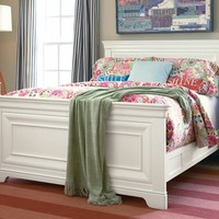 Classic Summer White Panel Bed