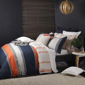 Dylan Orange Quilt Cover Set by Platinum Collection - Just Bedding
