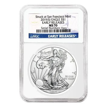 2019 1 oz Silver American Eagle MS-70 NGC (Early Releases)