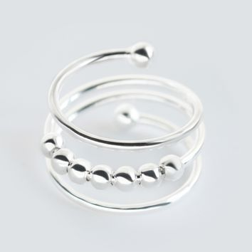 Personality multi level  925 Sterling Silver ring