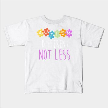 Autism Awareness Different Not Less Kids Youth T-Shirt