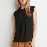 Contemporary Pleated Crepe Blouse