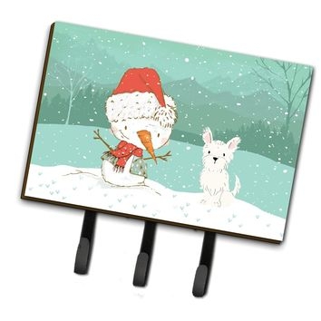 Westie Terrier Snowman Christmas Leash or Key Holder CK2097TH68