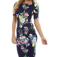 Women Dress Vestidos Summer Print Sexy Plus Size Work Business Casual Party Sheath ES0100