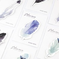 The Plume Series Feather Self-Adhesive Memo Pad