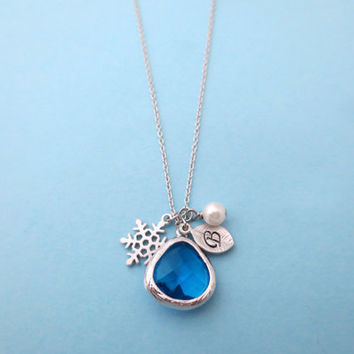 Frozen, Necklace, Disney, Necklace, Ice, Glass, Necklace, Personalized, Jewelry, Frozen, Inspired, Jewelry, Anna, And, Elsa, Necklace