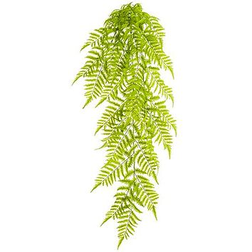 "UV Protected Outdoor Fake Boston Fern Hanging Plant - 50"" Long"