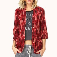 Eclectic Ikat Woven Cardigan