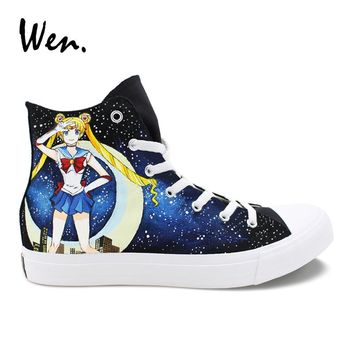 Sailor Moon High Top Womens Casual Sneakers