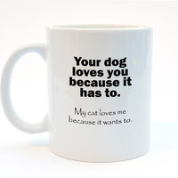 My Cat  Loves Me Coffee or Tea Mug - 11oz