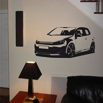 VOLKSWAGEN GOLF GTI Car Wall Art Decal Sticker 012