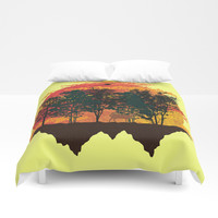 perfect view landscape Duvet Cover by Berwies