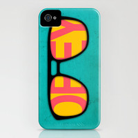 iPhone Case Blue (i phone 5, 4 and 4S available) OBEY: 'They Live' inspired Artwork by Jazzberry Blue