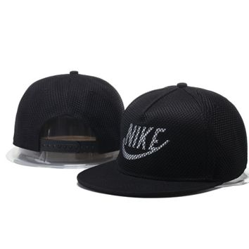Hot Black Nike Hook Embroidered Mesh Adjustable Outdoor Baseball Cap Hats