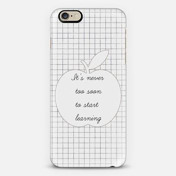 It's never too soon to start learning - Back to school iPhone 6 case by Yasmina Baggili | Casetify