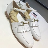 Gucci Women Fashion Casual Low Heeled Shoes Sandals Shoes