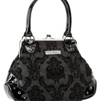"Women's ""Mistress Kisslock"" Handbag by Rock Rebel (Midnight)"